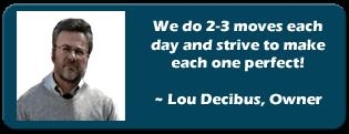 Movers in NJ, Louis Decibus, Princeton Van Service,